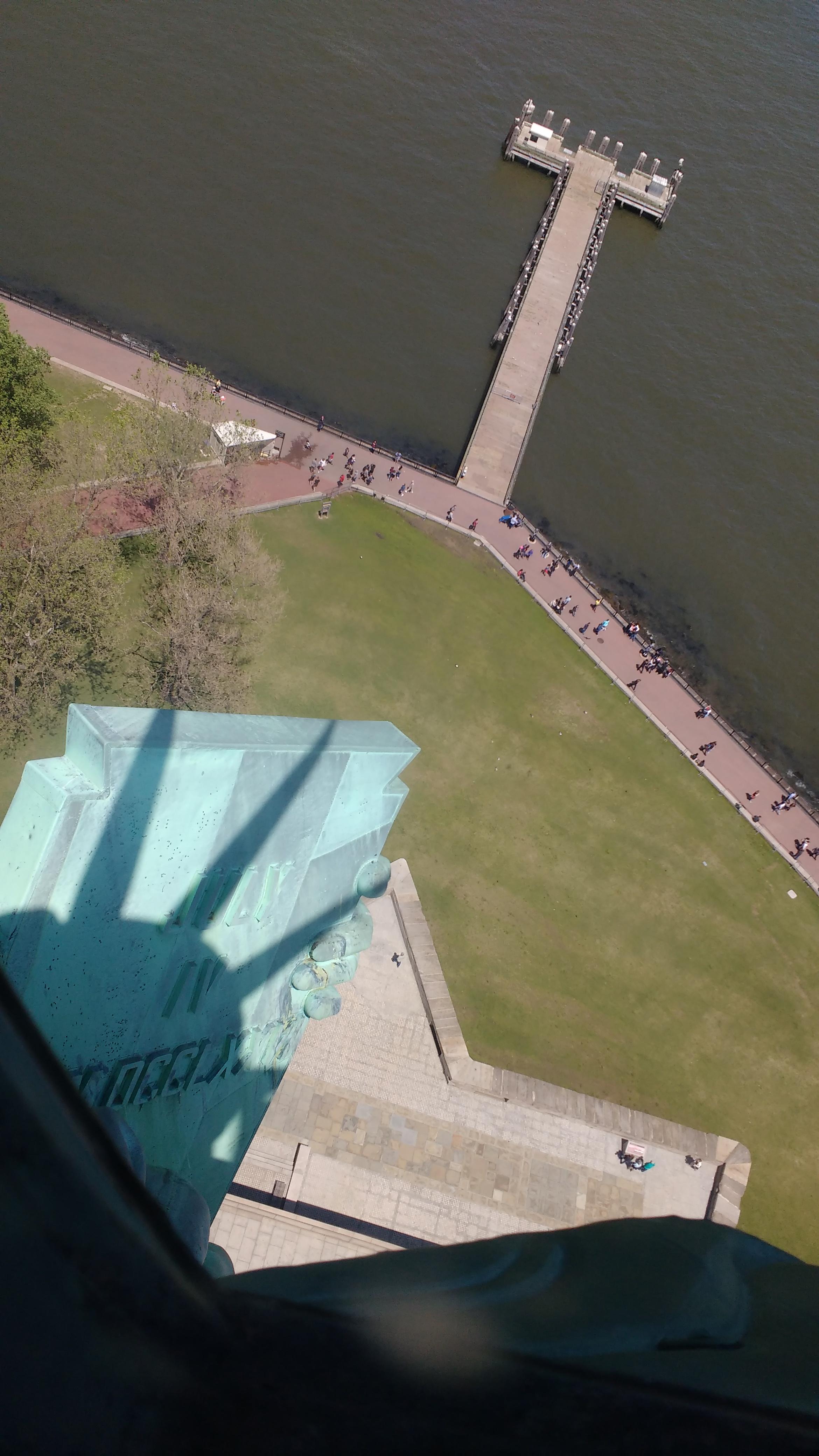 Blick aus der Freiheitsstatue